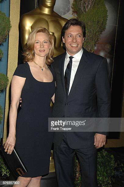 Actress Laura Linney and fiance Marc Schauer arrives at the Academy Awards�� Nominees Luncheon held at the Beverly Hilton Hotel