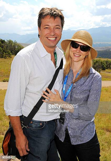 Actress Laura Linney and husband Marc Schauer attend the Patronâs Brunch during the 36th Telluride Film Festival held at the Opera House on September...