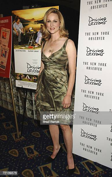 Actress Laura Linney arrives to the premiere of the Sony Pictures Classics presentation of Driving Lessons at the Chelsea Clearview West Cinemas...