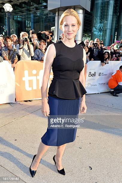 Actress Laura Linney attends 'Hyde Park On Hudson' premiere during the 2012 Toronto International Film Festival at Roy Thomson Hall on September 10...