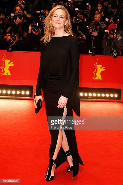 Actress Laura Linney attends the 'Genius' premiere during the 66th Berlinale International Film Festival Berlin at Berlinale Palace on February 16...