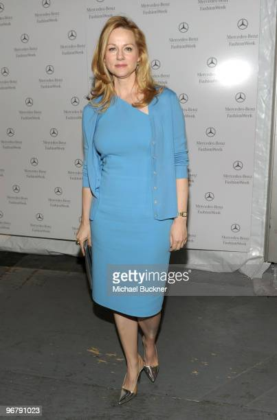 Actress Laura Linney attends the MercedesBenz Fashion Week Fall 2010 Official Coverage at Bryant Park on February 17 2010 in New York City