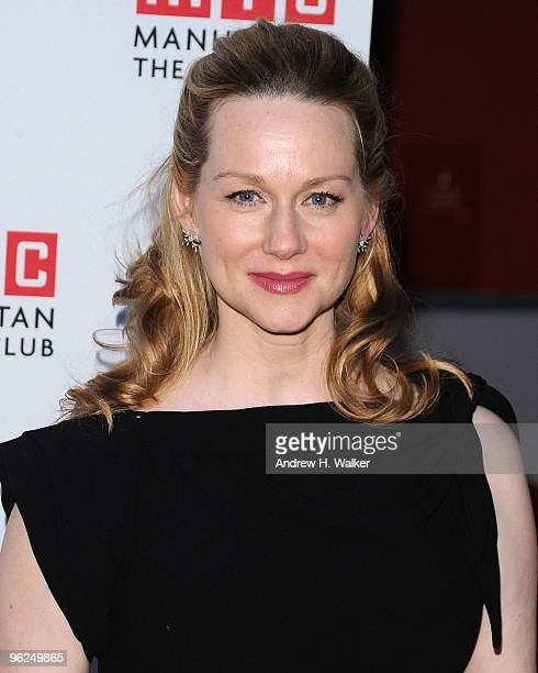 Actress Laura Linney attends the opening night party for 'Time Stands Still' on Broadway at Planet Hollywood Times Square on January 28 2010 in New...