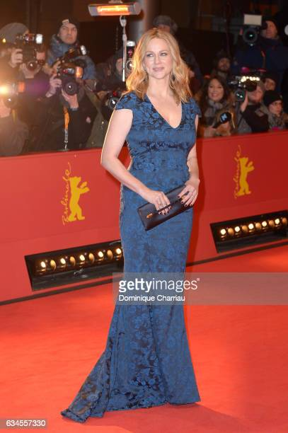 Actress Laura Linney attends the 'The Dinner' premiere during the 67th Berlinale International Film Festival Berlin at Berlinale Palace on February...