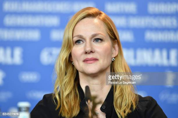 Actress Laura Linney attends the 'The Dinner' press conference during the 67th Berlinale International Film Festival Berlin at Grand Hyatt Hotel on...