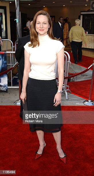 Actress Laura Linney attends the world premiere of K19 The Widowmaker at the Mann Village Bruin Theatres on July 15 2002 in Westwood California The...