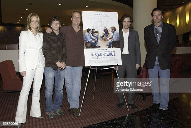 Actress Laura Linney Jesse Eisenberg Jeff Daniels Noah Baumbach and William Baldwin attend the Variety Screening Series of 'The Squid and The Whale'...