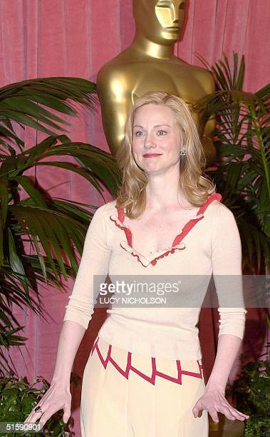US actress Laura Linney poses as she arrives at the Academy Awards nominees luncheon in Beverly Hills CA 12 March 2001 Linney is nominated for Best...