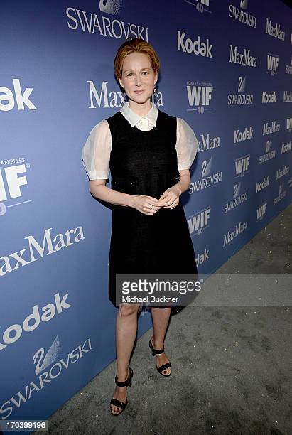 Actress Laura Linney recipient of The Crystal Award for Excellence in Film attends Women In Film's 2013 Crystal Lucy Awards at The Beverly Hilton...