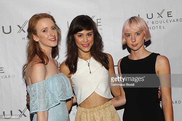 Actress Laura Long, model Kalyn Hemphill and Remy Weinstein attend Natalie Zfat's Los Angeles Summer Dinner Party on June 21, 2016 in Los Angeles,...