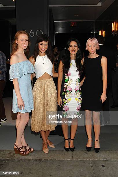 Actress Laura Long, model Kalyn Hemphill, Natalie Zfat, and Remy Weinstein attend Natalie Zfat's Los Angeles Summer Dinner Party on June 21, 2016 in...