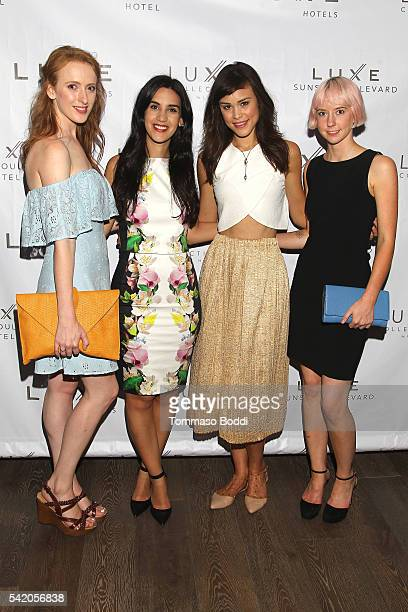 Actress Laura Long, Natalie Zfat, model Kalyn Hemphill and Remy Weinstein attend Natalie Zfat's Los Angeles Summer Dinner Party on June 21, 2016 in...
