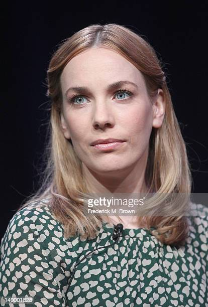 Actress Laura Main speaks onstage at the 'Call the Midwife' panel during day 1 of the PBS portion of the 2012 Summer TCA Tour held at the Beverly...