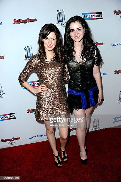 Actress Laura Marano and Vanessa Marano arrives at the Rolling Stone 2nd Annual AMA afterparty at Rolling Stone Restaurant And Lounge on November 20...