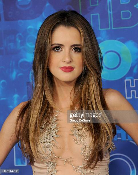 Actress Laura Marano arrives at HBO's Post Emmy Awards Reception at The Plaza at the Pacific Design Center on September 18 2016 in Los Angeles...