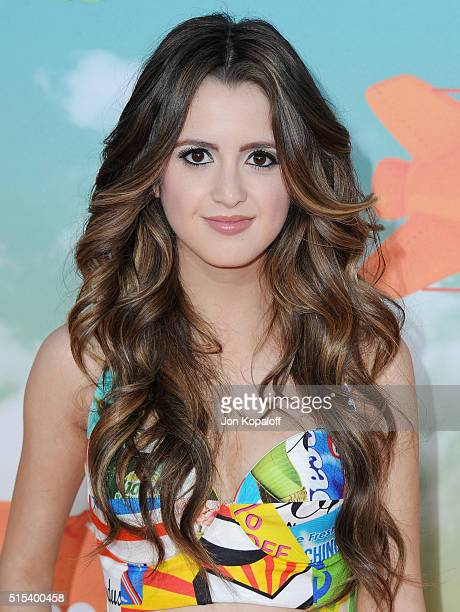 Actress Laura Marano arrives at Nickelodeon's 2016 Kids' Choice Awards at The Forum on March 12 2016 in Inglewood California