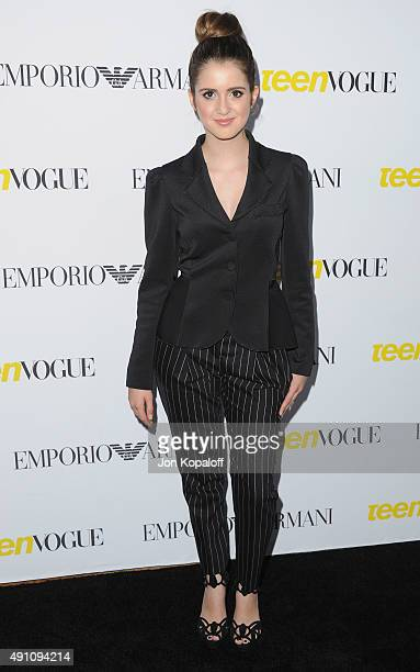 Actress Laura Marano arrives at Teen Vogue's 13th Annual Young Hollywood Issue Launch Party on October 2 2015 in Los Angeles California