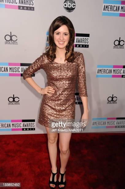 Actress Laura Marano arrives at the 2011 American Music Awards held at Nokia Theatre LA LIVE on November 20 2011 in Los Angeles California