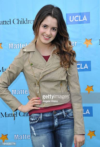 Actress Laura Marano arrives to the 'Mattel Party on the Pier' benefiting Mattel Children's Hospital UCLA at Pacific Park on the Santa Monica Pier on...