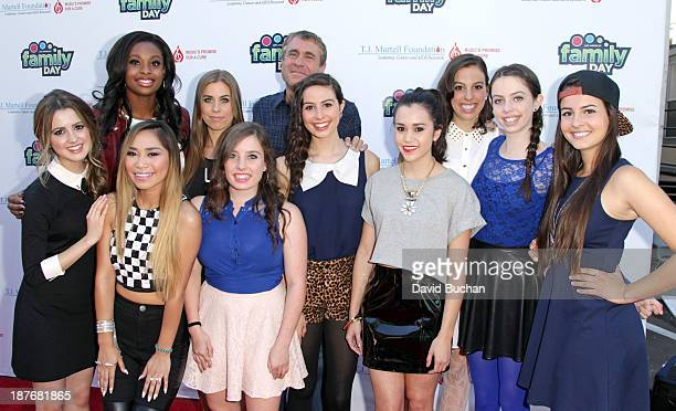 Actress Laura Marano Singer Coco Jones Singer Jessica Sanchez and singer Megan Nicole and girl band Cimorelli with EVP of Ketchum Sounds and Family...