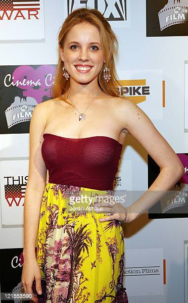 Actress Laura Marie Steigers poses on the red carpet before the screening of This is War during the first day of the Cinema City International Film...