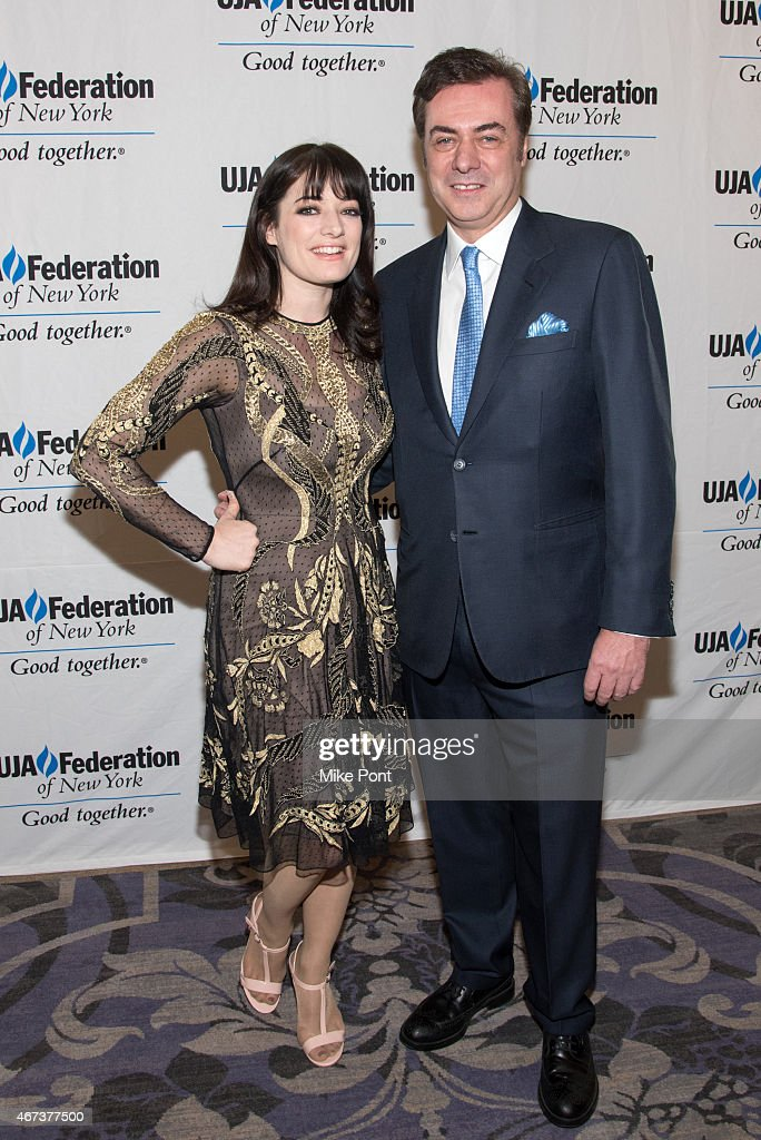 Actress Laura Michelle Kelly and Key Brand Entertainment owner and CEO John Gore attend the 2015 UJA Federation Of New York Excellence In Theater Award Dinner at The St Regis New York on March 23, 2015 in New York City.