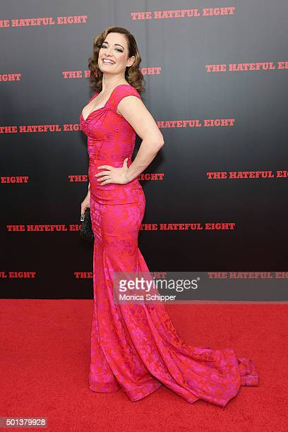 Actress Laura Michelle Kelly attends the The New York Premiere Of 'The Hateful Eight' on December 14 2015 in New York City