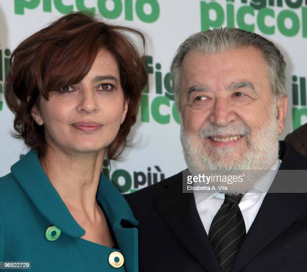 Actress Laura Morante and director Pupi Avati attend 'Il Figlio Piu Piccolo' photocall at Embassy Cinema on February 9 2010 in Rome Italy