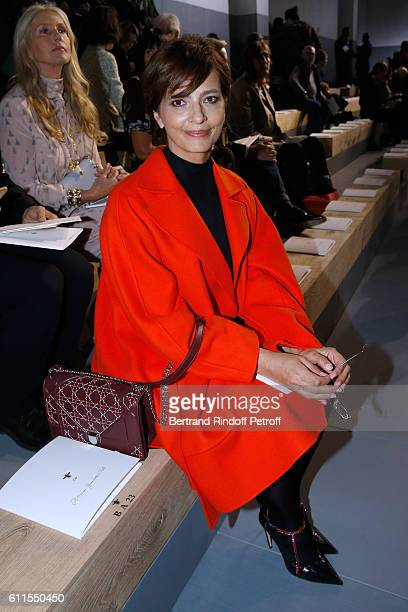 Actress Laura Morante attends the Christian Dior show as part of the Paris Fashion Week Womenswear Spring/Summer 2017 on September 30 2016 in Paris...