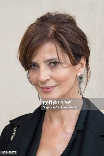 Actress Laura Morante attends the Christian Dior show as part of the Paris Fashion Week Womenswear Spring/Summer 2018 at on September 26 2017 in...