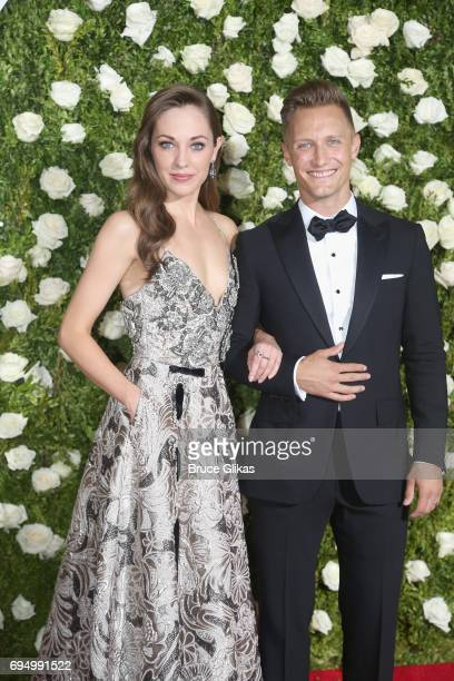 Actress Laura Osnes and photographer Nathan Johnson attend the 71st Annual Tony Awards at Radio City Music Hall on June 11, 2017 in New York City.