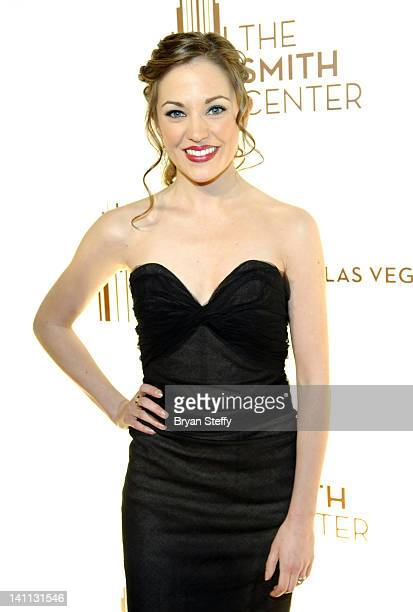 Actress Laura Osnes arrives at the opening night of The Smith Center for the Performing Arts on March 10 2012 in Las Vegas Nevada