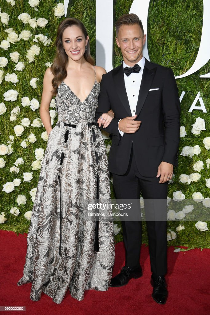 Actress Laura Osnes (L) attends the 71st Annual Tony Awards at Radio City Music Hall on June 11, 2017 in New York City.