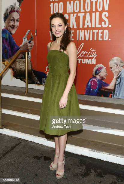 Actress Laura Osnes attends the Broadway opening night for 'The Velocity of Autumn' at Booth Theatre on April 21 2014 in New York City