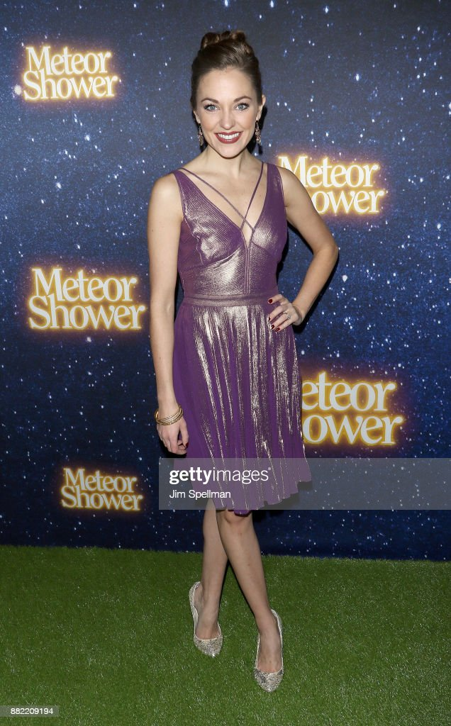 Actress Laura Osnes attends the 'Meteor Shower' Broadway opening night at the Booth Theatre on November 29, 2017 in New York City.