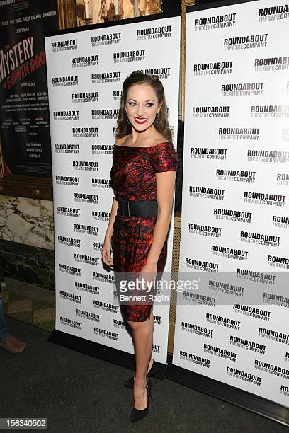 Actress Laura Osnes attends the 'The Mystery Of Edwin Drood' Broadway Opening Night at the Roundabout Theatre Company's Studio 54 on November 13 2012...