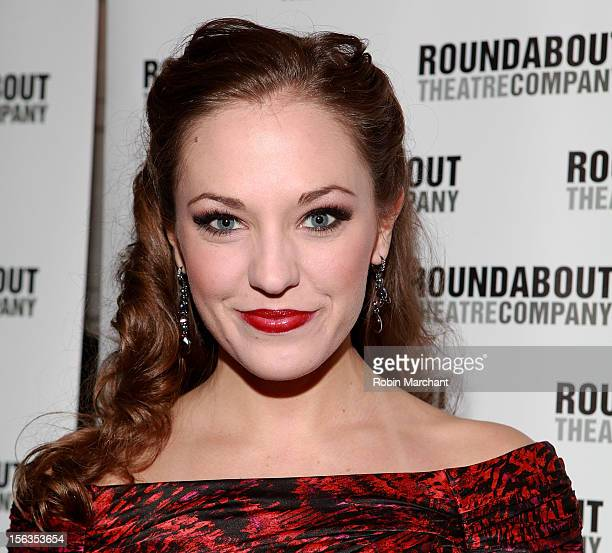 Actress Laura Osnes attends the 'The Mystery Of Edwin Drood' Broadway Opening Night at Roundabout Theatre Company's Studio 54 on November 13 2012 in...