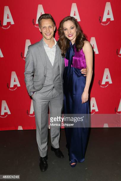 Actress Laura Osnes attends The Threepenny Opera Opening Night After Party at PHD Rooftop Lounge at Dream Downtown on April 7 2014 in New York City