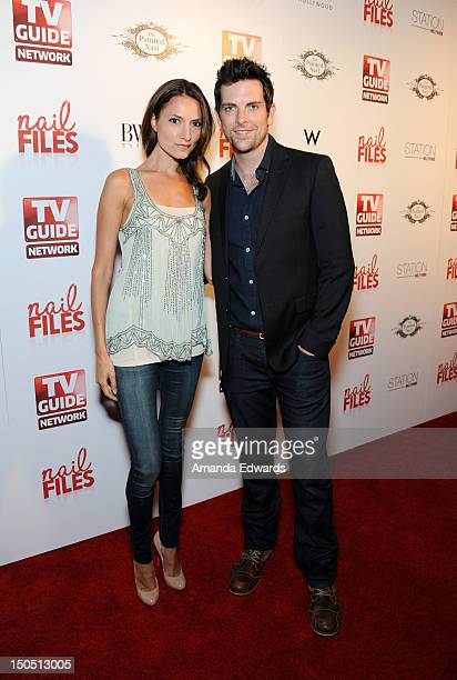 Actress Laura Perloe and singer Chris Mann arrive at the Nail Files Season 2 Premiere Party at Station Hollywood at W Hollywood Hotel on August 19...