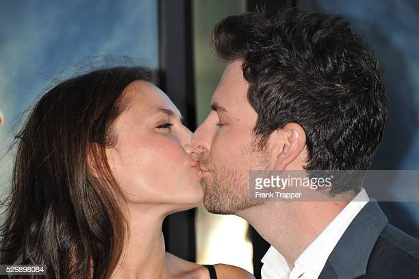 Actress Laura Perloe and singer Chris Mann arrive the the 2012 Los Angeles Film Festival Premiere of Seeking A Friend for the End of the World held...