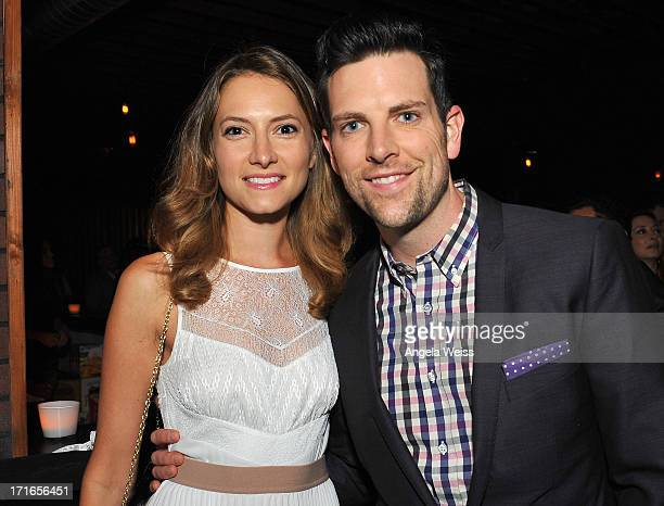 Actress Laura Perloe and singer Chris Mann attend the premiere after party of 'Some Girl' at Laemmle NoHo 7 on June 26 2013 in North Hollywood...