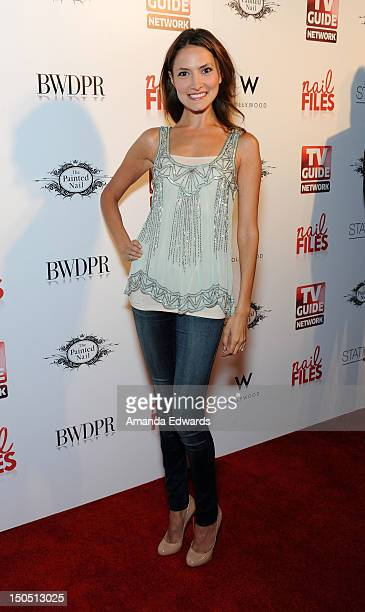 Actress Laura Perloe arrives at the Nail Files Season 2 Premiere Party at Station Hollywood at W Hollywood Hotel on August 19 2012 in Hollywood...