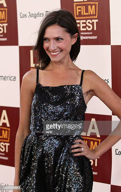 Actress Laura Perloe arrives for the premiere of Seeking A Friend For The End Of The World June 18 2012 in Los Angeles California AFP PHOTO / Ringo...