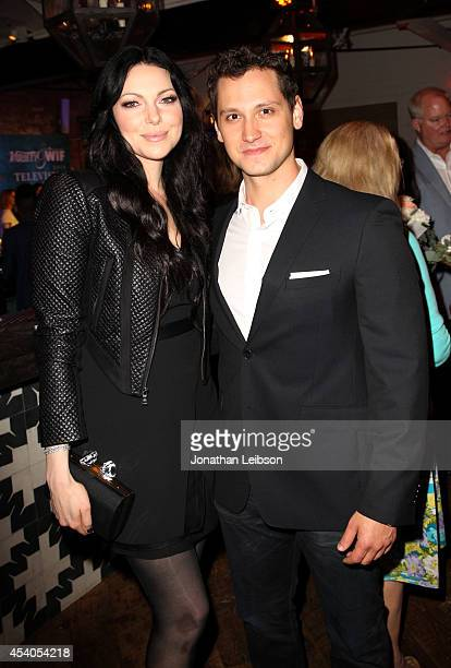 Actress Laura Prepon and actor Matt McGorry attend Variety and Women in Film Emmy Nominee Celebration powered by Samsung Galaxy on August 23 2014 in...