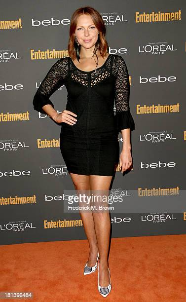 Actress Laura Prepon arrives at Entertainment Weekly's Pre-Emmy Party at Fig & Olive Melrose Place on September 20, 2013 in West Hollywood,...
