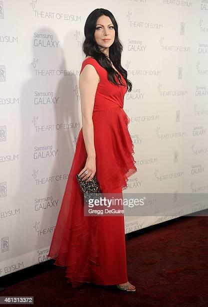 Actress Laura Prepon arrives at The Art Of Elysium's 8th Annual Heaven Gala at Hangar 8 on January 10 2015 in Santa Monica California