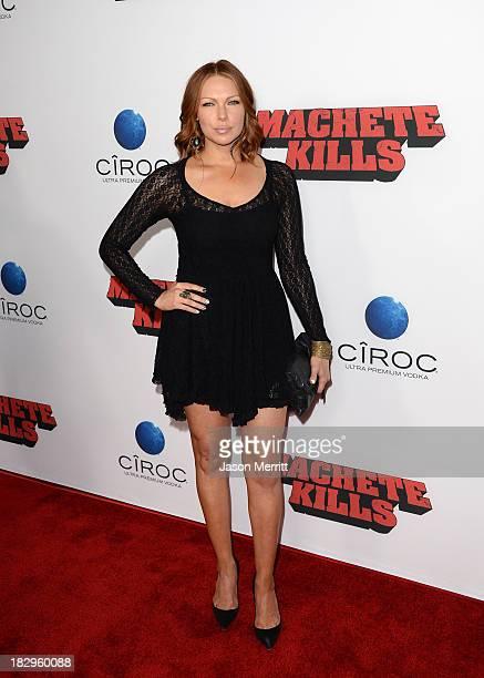 Actress Laura Prepon arrives at the premiere of Open Road Films' Machete Kills at Regal Cinemas LA Live on October 2 2013 in Los Angeles California