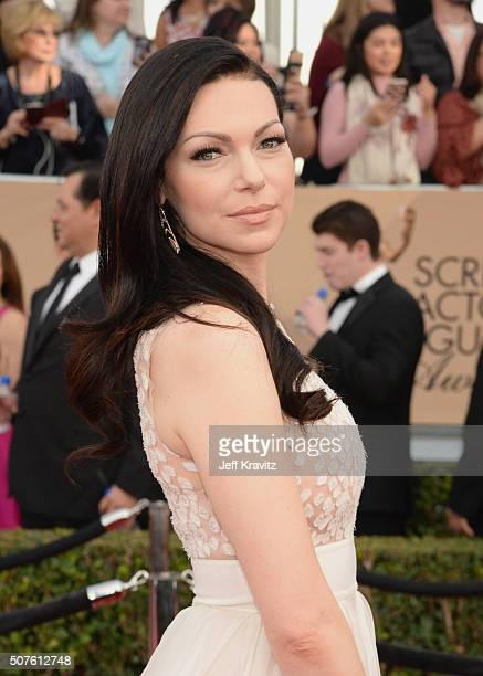 Actress Laura Prepon attends the 22nd Annual Screen Actors Guild Awards at The Shrine Auditorium on January 30, 2016 in Los Angeles, California.