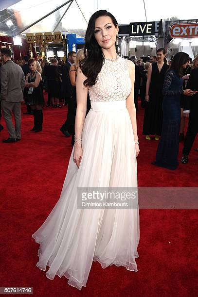 Actress Laura Prepon attends The 22nd Annual Screen Actors Guild Awards at The Shrine Auditorium on January 30, 2016 in Los Angeles, California....