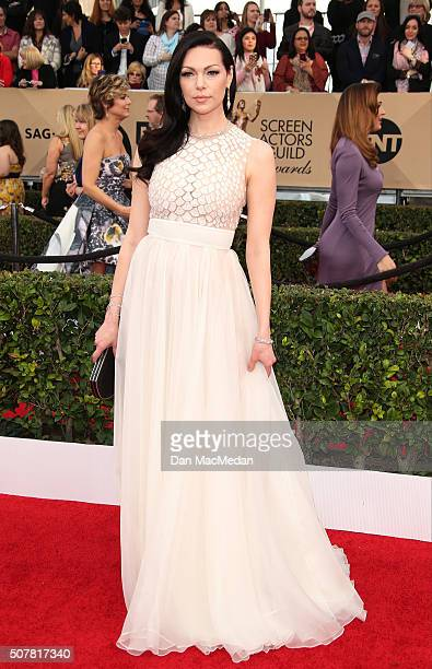 Actress Laura Prepon attends the 22nd Annual Screen Actors Guild Awards at The Shrine Auditorium on January 30 2016 in Los Angeles California